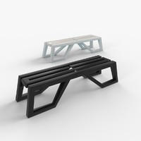 3d bench line 2 model