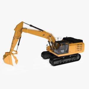 hydraulic thumbs excavators 3d dxf