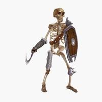 3d model fantasy skeleton