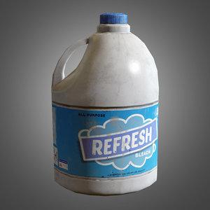 bleach bottle - pbr 3d model