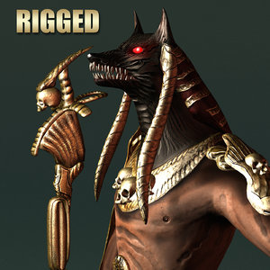 rigged anubis monster 3d model