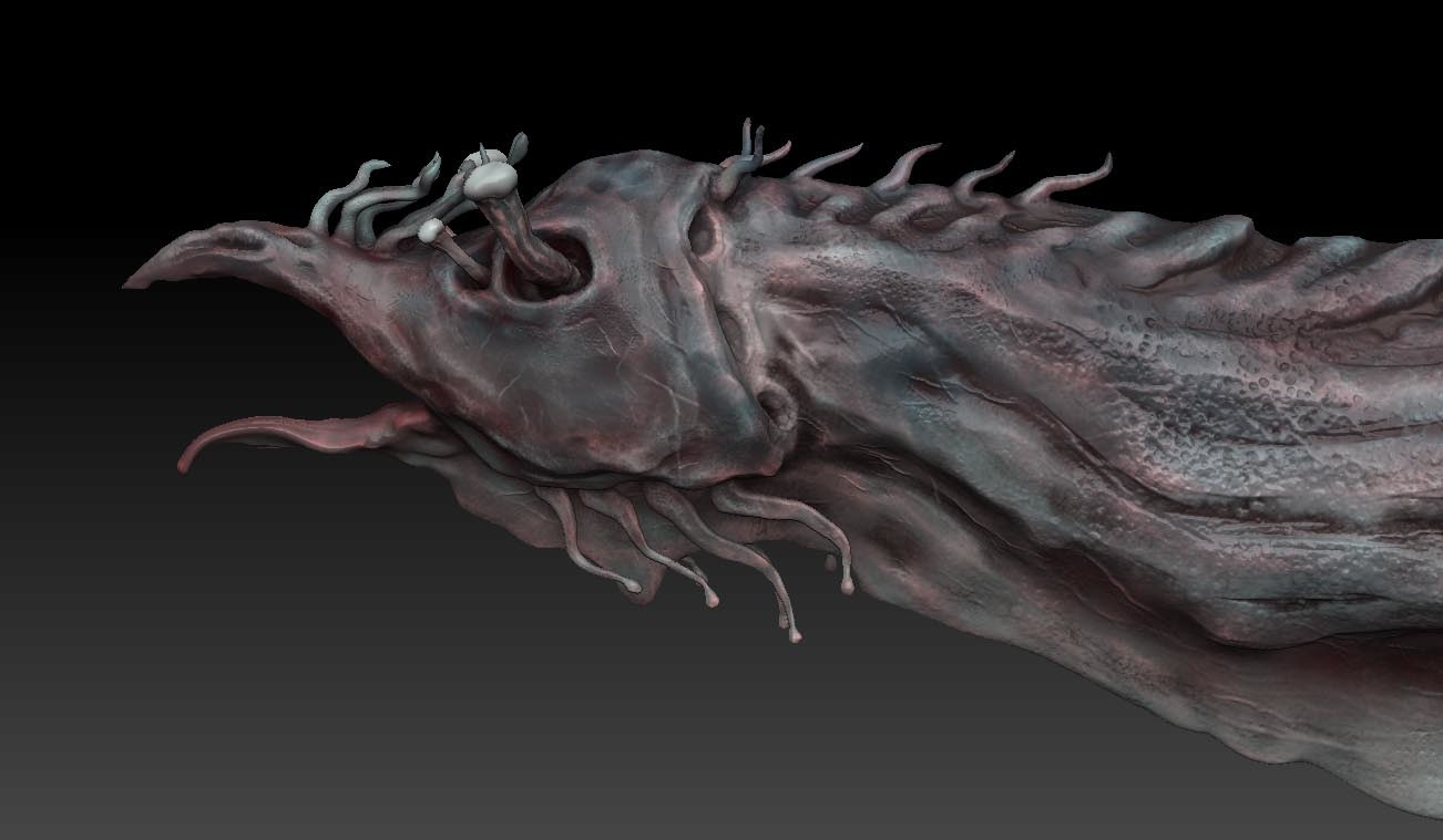 3d model aquatic alien