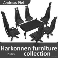 Harkonnen furniture collection black
