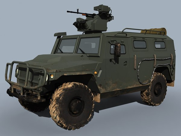 russian military vpk-233114 tigr-m 3d model