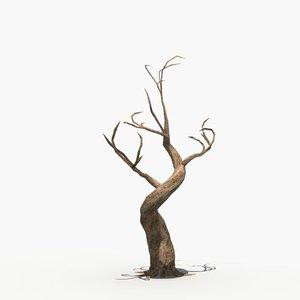 3d scary tree dry model
