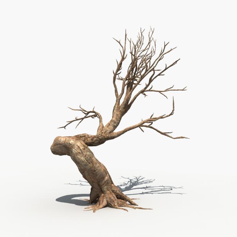 scary tree dry 3d max