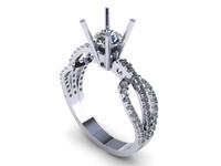3d diamond ring