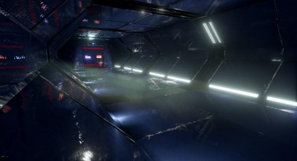 sci-fi interior space fbx
