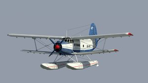 seaplane an-4 3d model