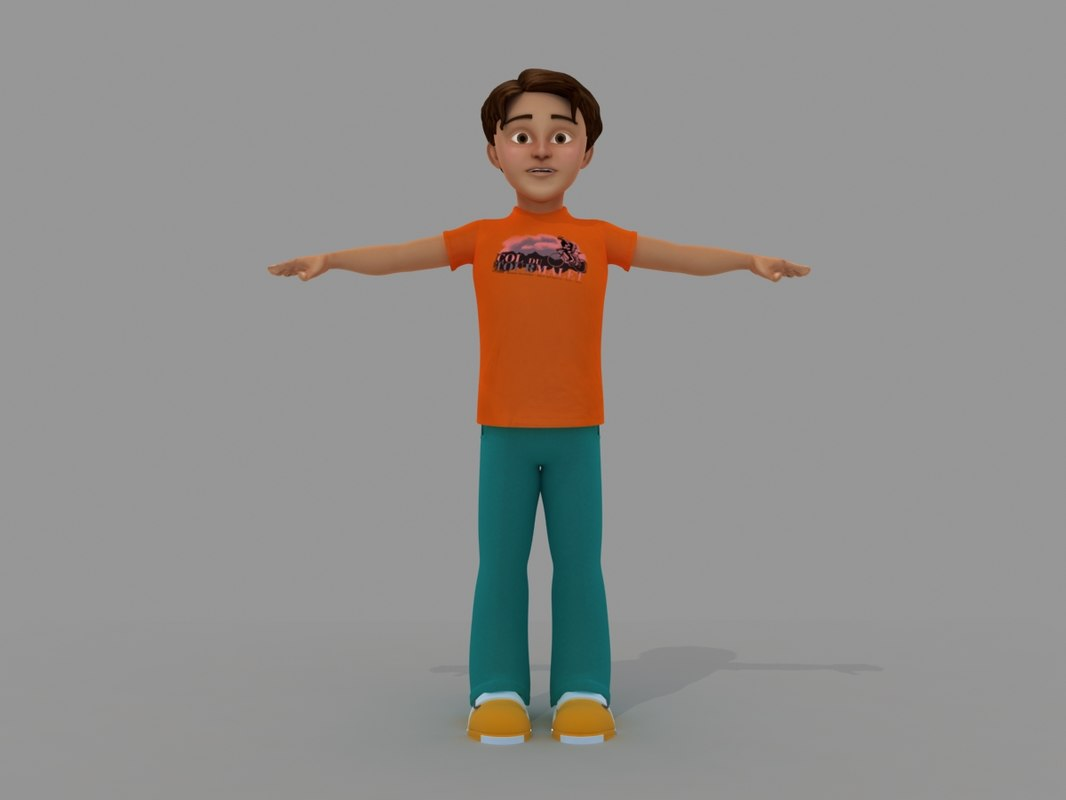 3d model cartoon boy toon