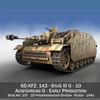 3d obj stug - g iii