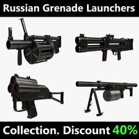 russian grenade launchers 3d max