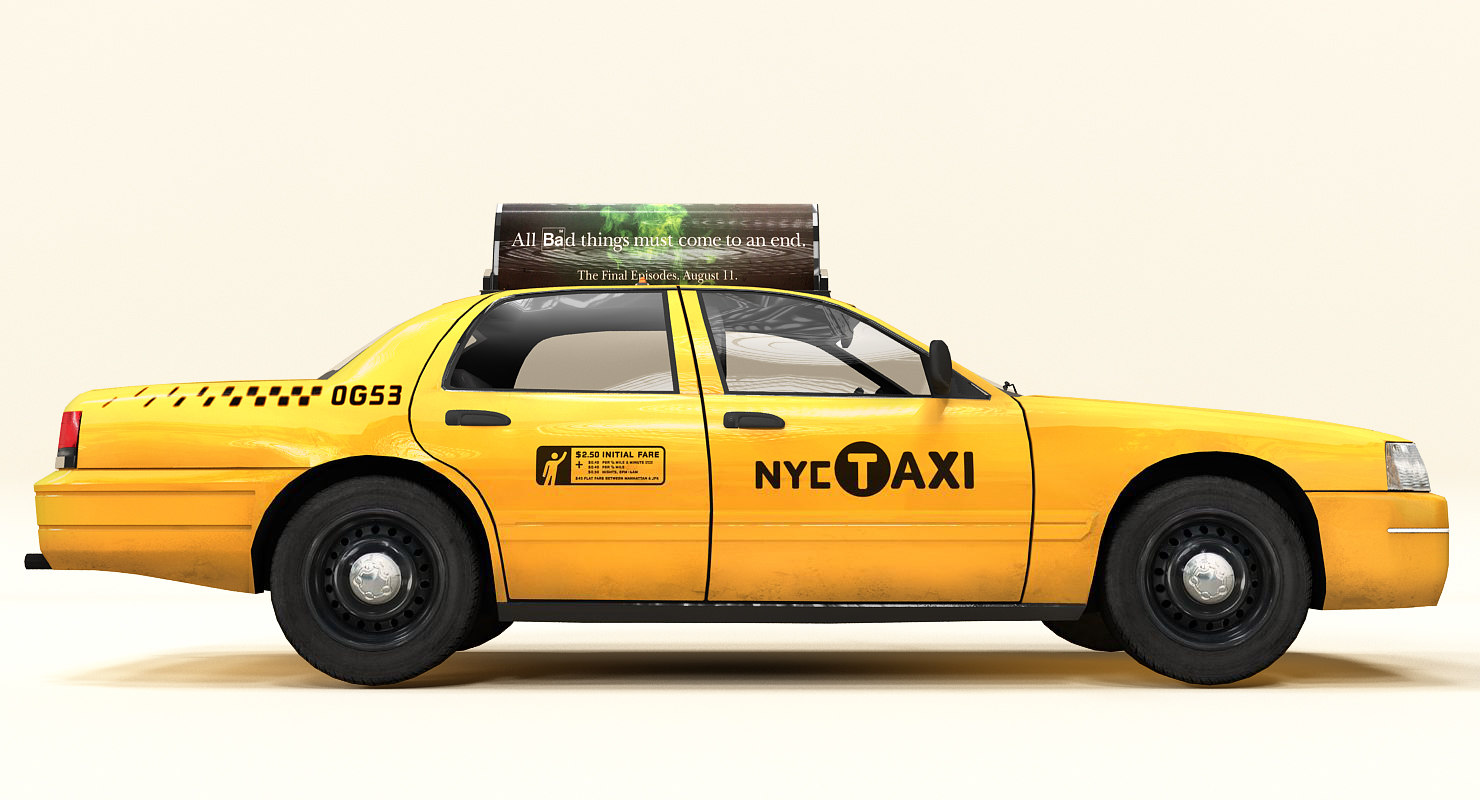 generic new york taxi car 3ds
