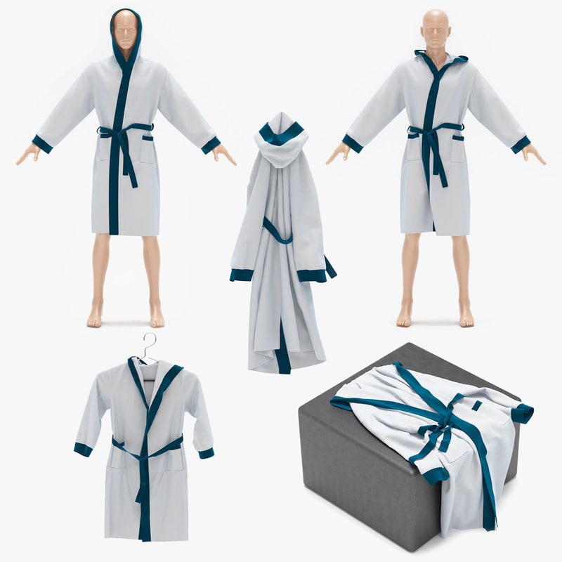 bath robe 3d max