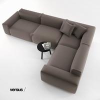 loose modern sofa 3d model
