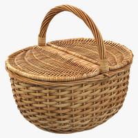 3d picnic basket
