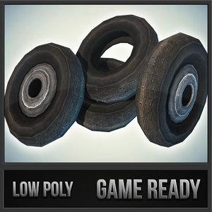 3ds max car tires