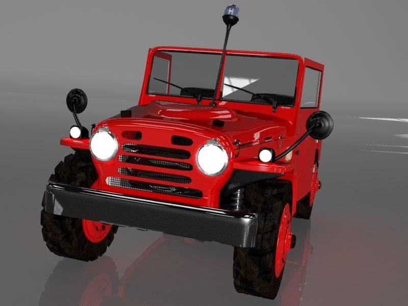 3d fiat campagnola ar51 model