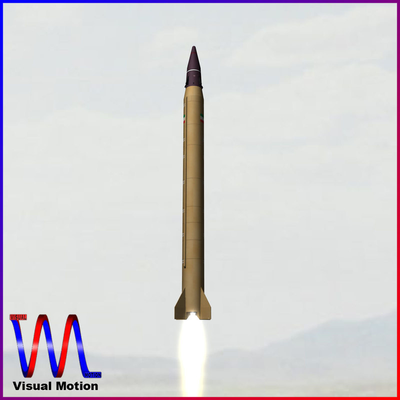3d model iranian emad ballistic missile