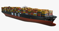 container ship msc danit 3ds