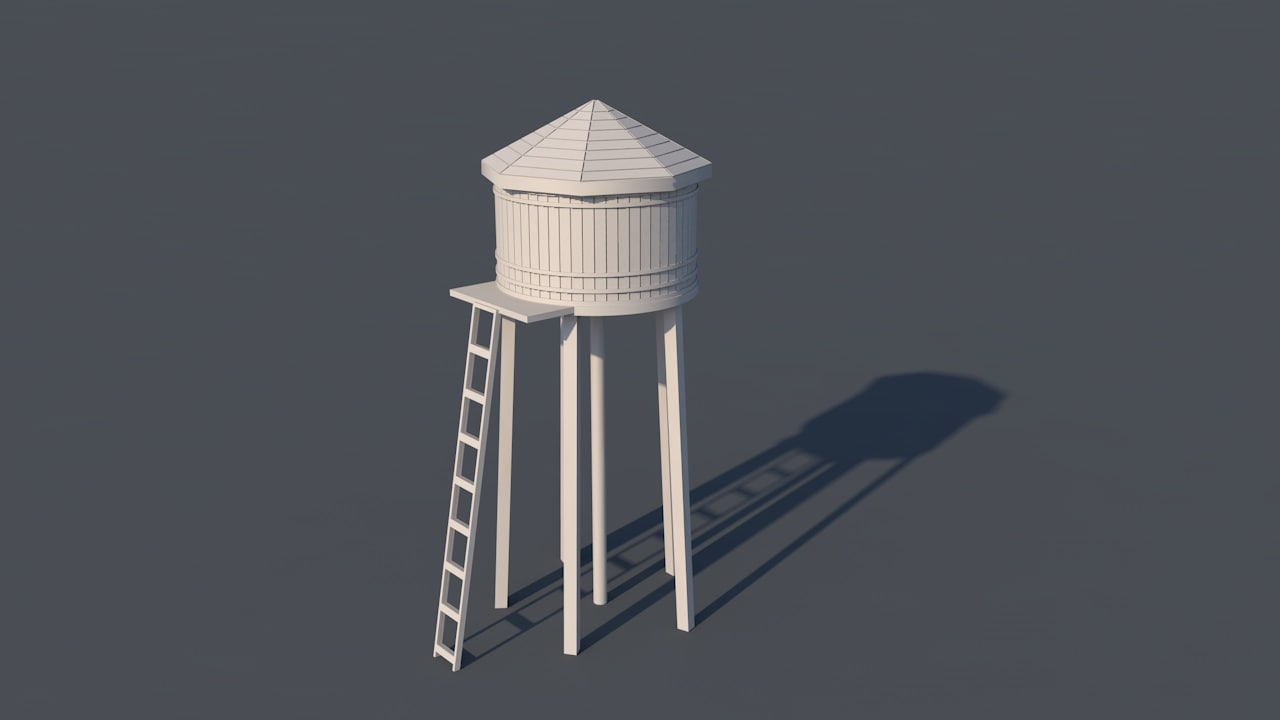 c4d water tower