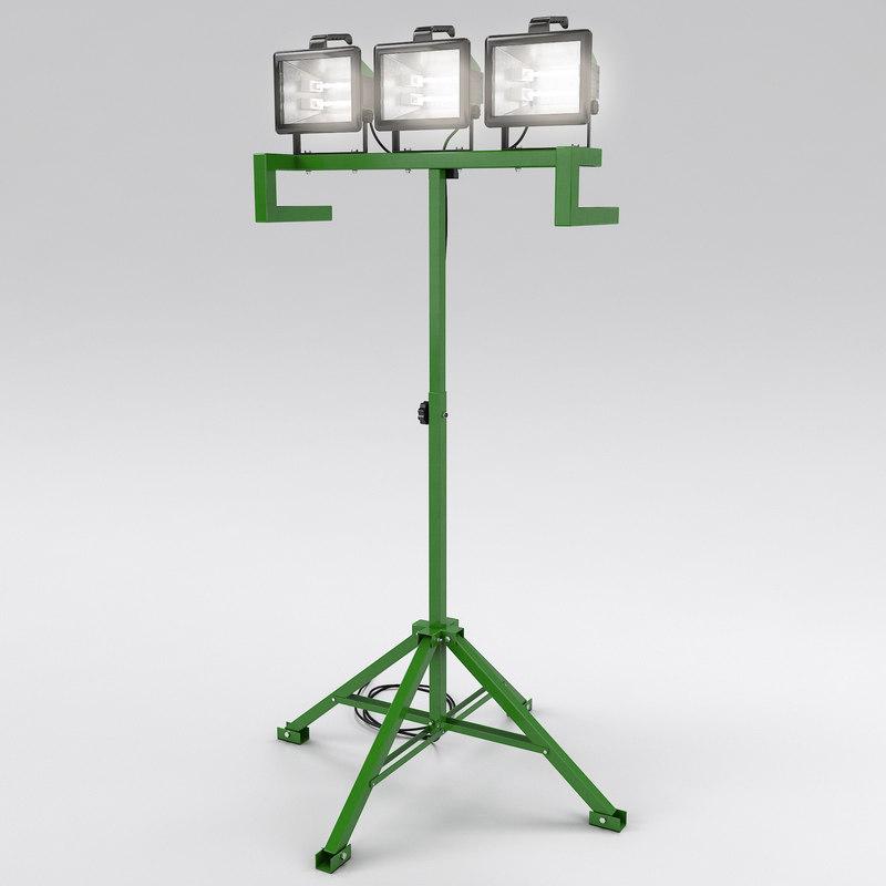 3d model work light
