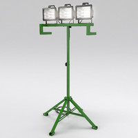 3d model work light