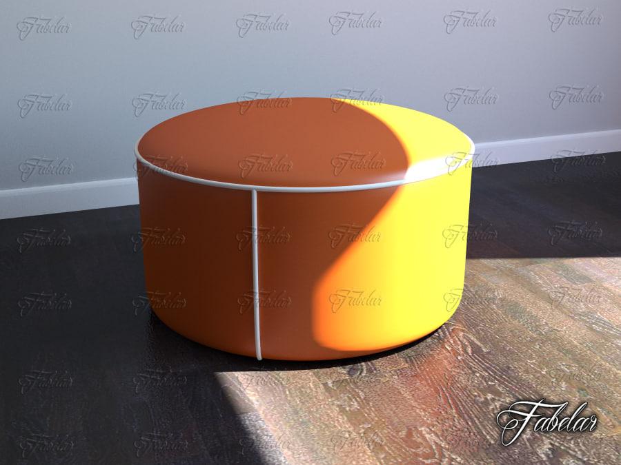 3d model of pouf mentalray