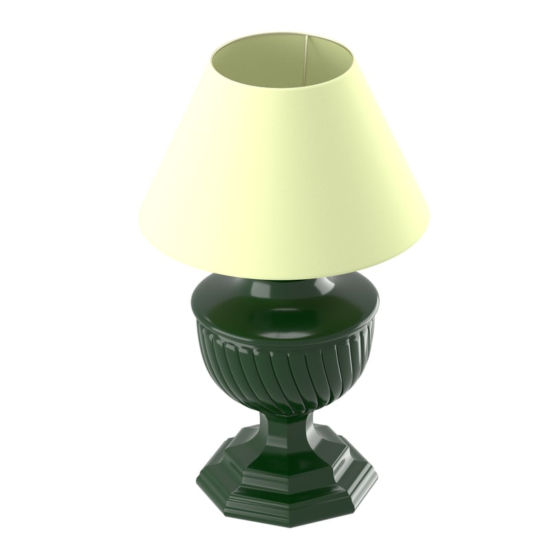 old-style lamp beige lampshade 3d model