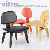 vitra chair lcw charles eames 3d model