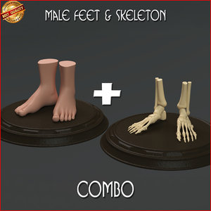 3d modeled feet n