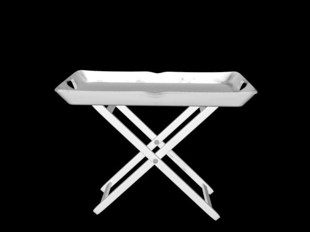 3d shabby table model