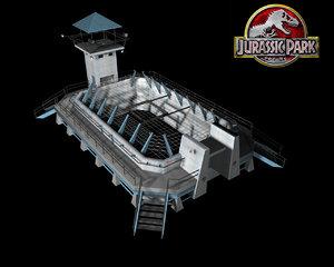 3d model velociraptor pen jurassic park