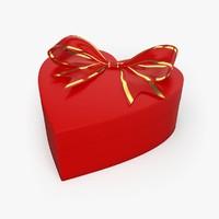 christmas love present 3d model