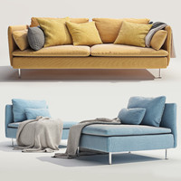 IKEA SODERHAMN Three-seat sofa and One-seat section