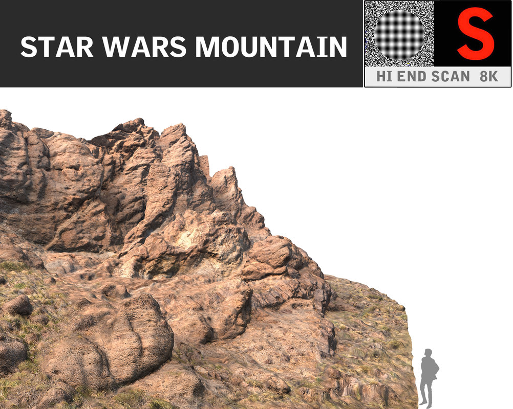 3d model mountain 8k