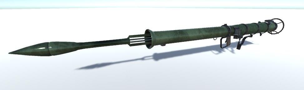 bazooka unity 3d model