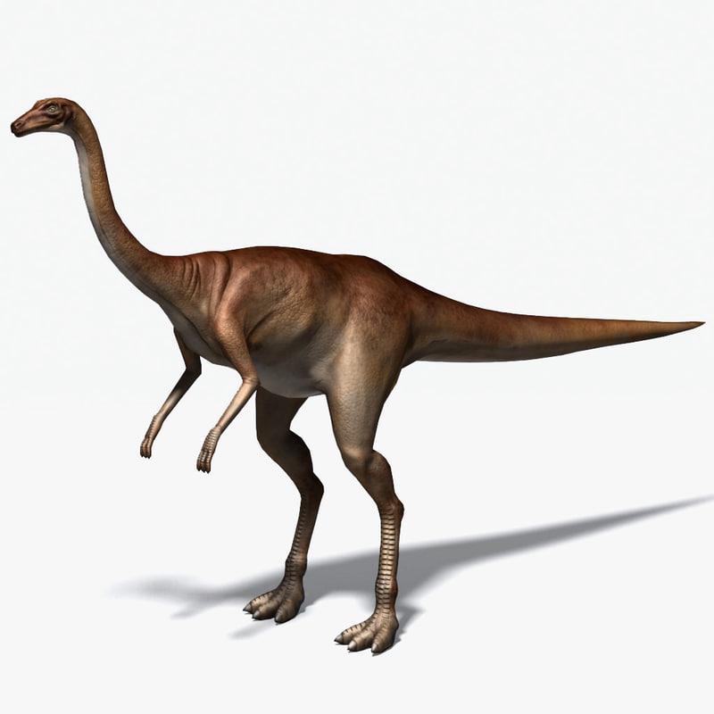 ornithomimus therapod cretaceous 3d max