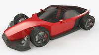 red car 3d model