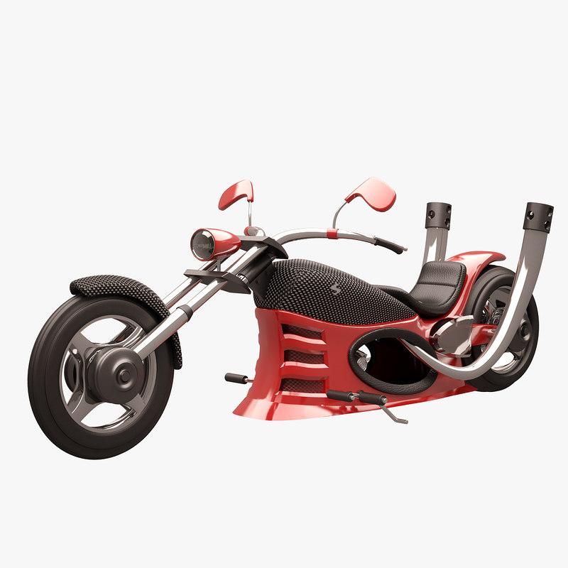 chopper red carbon 3d max