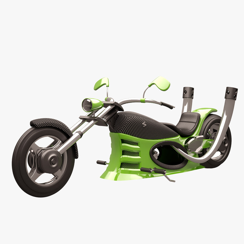 3d chopper green carbon