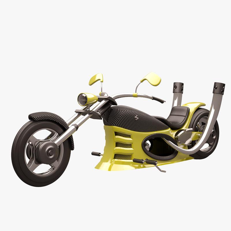 chopper yellow carbon 3d max