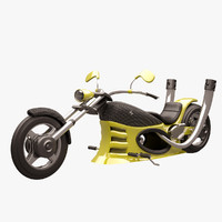 chopper yellow carbon 3d max