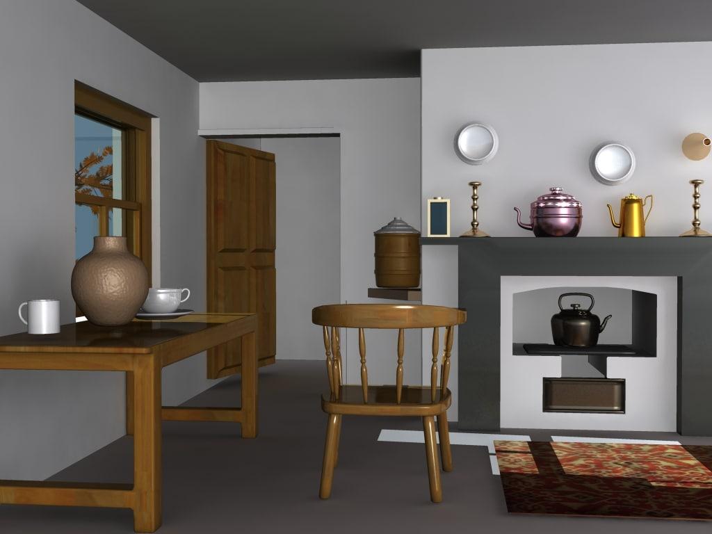 old kitchen 3d max
