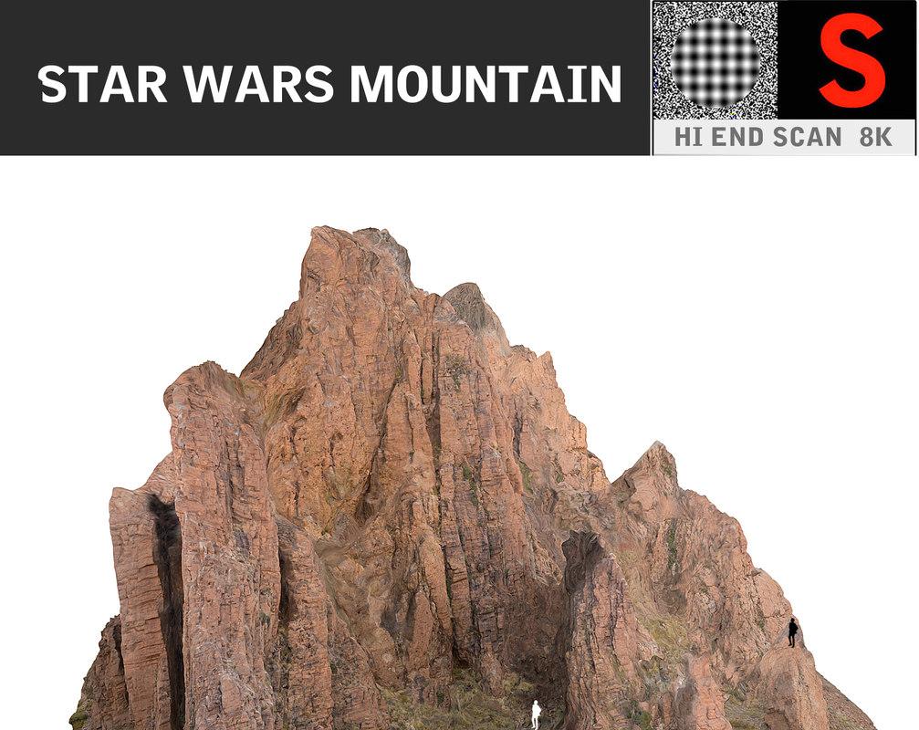 3d model mountain hd 8k