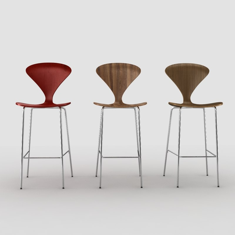 cherner stool chair 3d model