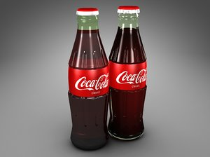 glass coke bottles 3d c4d