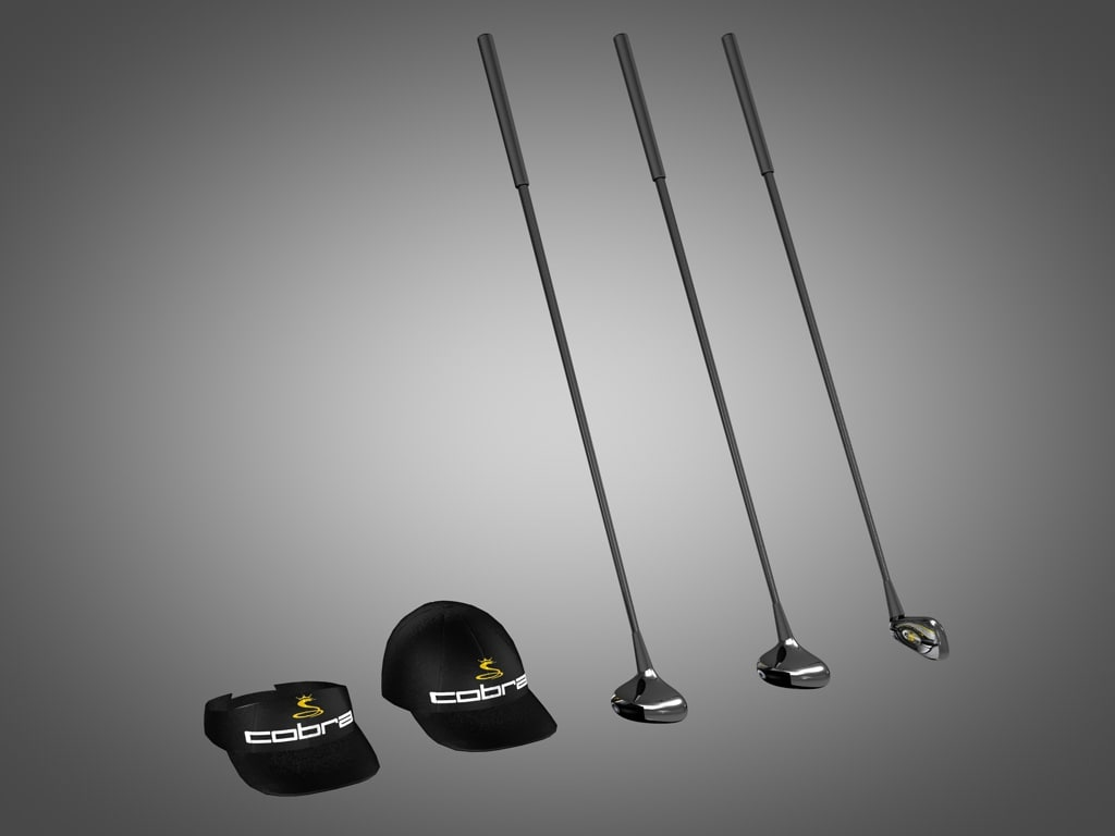 cobra golf clubs 3d model