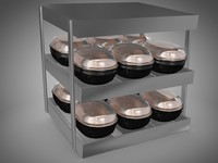 3d model roasted chicken warmer display