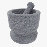 3d model mortar pestle